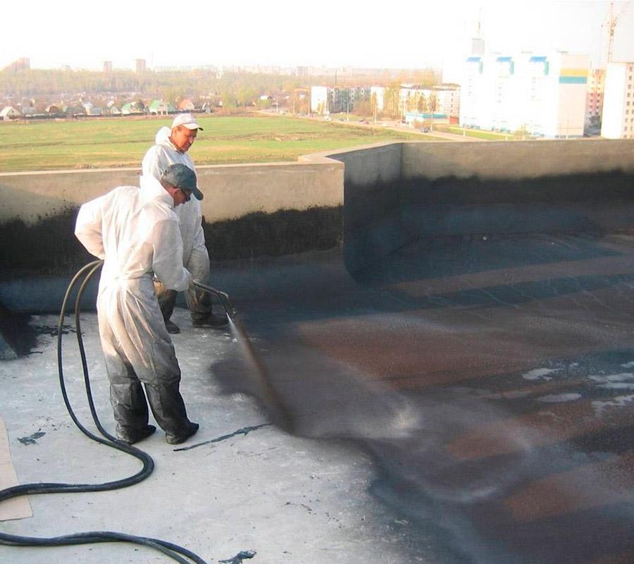 Изолировать жидкой резиной промышленную крышу