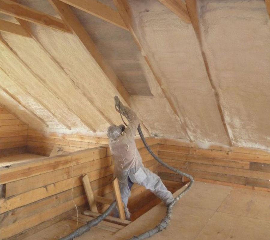 Напыление ппу крыша