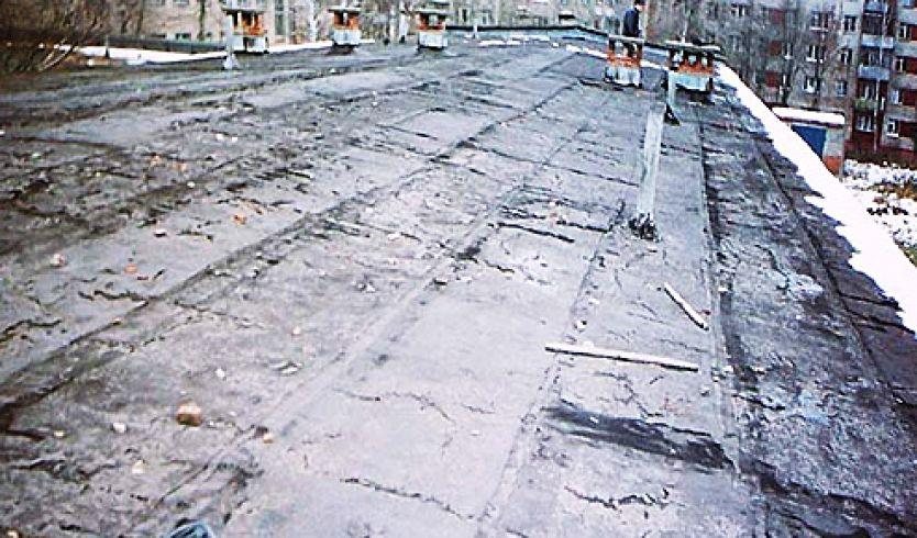 Состояние крыши школы до ремонта
