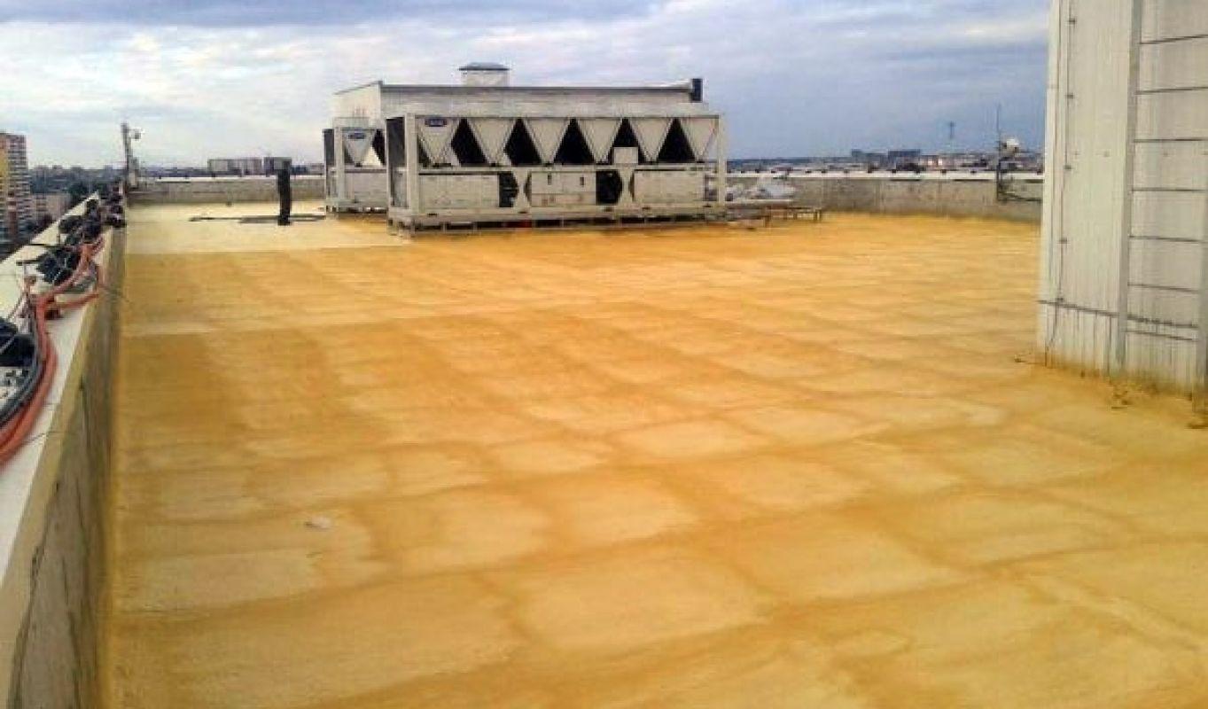 Утепление ППУ плоской крыши-кровли